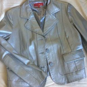 Jackets & Blazers - Silver leather jacket